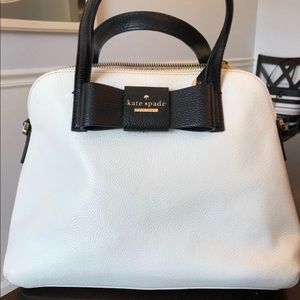 Kate Spade Julia St Maise Satchel black & cream